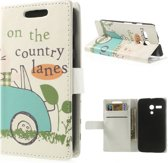 Motorola Moto G Stand Case Hoesje Country Lanes