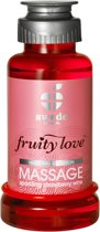 Swede - Fruity Love Massage Aardbeienwijn - 100 ml - Glijmiddel
