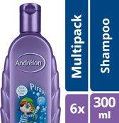 Andrélon piraat  - 300 ml - shampoo - 6 st - voordeelverpakking