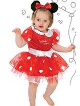 Disney Minnie Mouse Polkadot Baby Kostuum - Maat 18-24 maanden