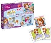 Clementoni 4-in-1 Puzzeldoos - Sofia het Prinsesje