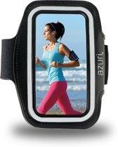 Azuri sport armband universeel smartphone voor Apple, Samsung, LG, HTC, Nokia, Huawei en Acer- maat large - zwart
