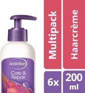 Andrélon care & repair  - 200 ml - crème - 6 st - voordeelverpakking