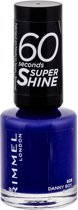 Rimmel London 60 seconds supershine nailpolish - 560 Danny Boy, Blue! - Nagellak