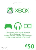 Microsoft Xbox Live - 50 euro Kaart (Xbox 360 + Xbox One)