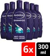Andrélon menthol Haar & Hoofdhuid - 300 ml - shampoo - 6 st - voordeelverpakking