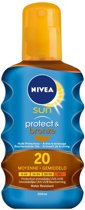 Nivea Sun Protect & Bronze Oil Spf 20 - 200 ml - Zonnebrand spray