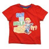 Bob de Bouwer Jongens T-shirt - rood - Maat 110