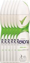 Rexona fresh aloe vera Woman - 150 ml - deodorant spray - 6 st - Voordeelverpakking