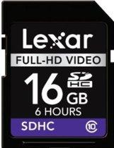 Lexar Full-HD SD kaart 16 GB