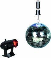 Bigben Draaibare LED Spiegel Discolamp met Schijnwerper - 20 cm
