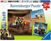 Ravensburger Puzzel claas: landbouwvoertuigen 3 x 49 stukjes