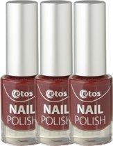 Etos Nailpolish 023 - Super Chique - Rood - 3 stuks - Nagellak