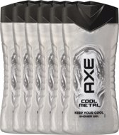 Axe cool metal  - 250 ml - shower gel - 6 st - voordeelverpakking