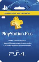 Sony PlayStation Plus Abonnement 90 Dagen NL - PS4 + PS3 + PS Vita + PSN