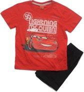 Disney Cars Jongens Shortama - rood;zwart - Maat 104