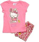 Hello Kitty Meisjes Shortama - roze - Maat 128