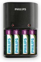 Philips SCB1490NB - AA Batterijlader - 4 Stuks