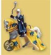 Papo Paard (geel/blauw gedrapeerd)