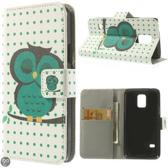 Uil book case hoesje Samsung Galaxy S5 mini
