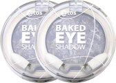Etos Baked Marble Eyeshadow 112 - Grijs - 2 stuks - Oogschaduw