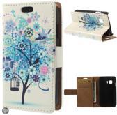 Blauw boom agenda wallet hoesje Samsung Galaxy Young 2 SM-G130