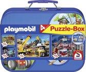 Schmidt Puzzel: Playmobil Puzzelkoffer - Kinderpuzzel
