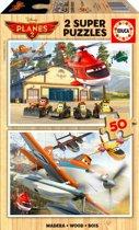 Educa HOUT: Planes - 2 x 50 stukjes