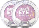 Etos Baked Marble Eyeshadow 010 - Roze - 2 stuks - Oogschaduw