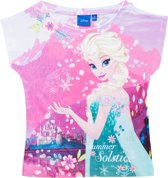 Disney Frozen Meisjes T-shirt - Wit/Roze - Maat 110