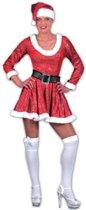 Glitter kerst jurk met riem en muts 40-42 (l/xl)