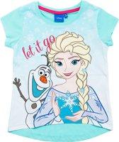 Disney Frozen Meisjes T-shirt - Lichtblauw - Maat 140