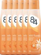 8x4 Wild Flower - 150 ml - Deodorant - 6 st - Voordeelverpakking