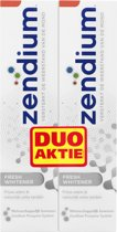 Zendium Fresh Whitener - 75 ml - Tandpasta - 2 stuks - Voordeelverpakking