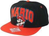 Nintendo - Black/Red Snap Back Cap Mario