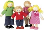 Houten Tidlo  poppenhuis poppetjes Familie