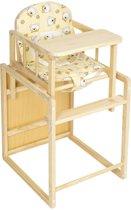 Kinderstoel stoel kinderen kinder kleinekinderstoel babystoel hout + tafel geel 401323
