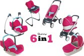 Smoby Maxi Cosi Quinny poppenwagen 6in1 megapack