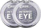 Etos Intense Eyeshadow 004 - Zilver - 2 stuks - Oogschaduw