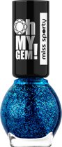 Miss sporty Oh My Gem! Nailpolish - 004 - Blauw - Nagellak