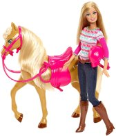 Barbie met Paard Tawny - Barbie pop