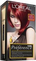 L'Oréal Paris Préférence Récital Haarkleuring - 6.67 Pure Scarlet