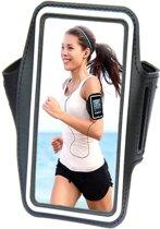 Comfortabele Smartphone Sport Armband voor uw Doro Primo 215, zwart , merk i12Cover