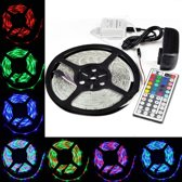 OmYmO SMD5050 - Led strip - 5m - RGB - 36W - IP21 - Incl. 44 button remote
