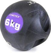 Gymstick Medicine bal - Met Handvaten - 6 kg - Zwart / Paars