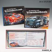 Monster Cars vriendenboek zwart