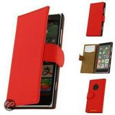 Nokia Lumia 830 Hoesje Rood Book Cards Case