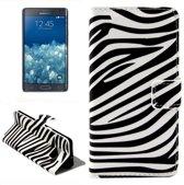 Samsung Galaxy Note 5 Edge Flip case cover hoesje Zebra