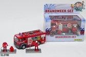 Brandweer auto met figuren - blusauto