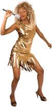 Luxe Rock Queen - Kostuum - Maat M - Goud